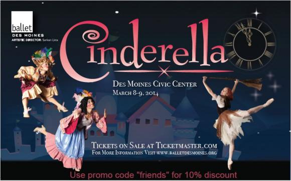 Ballet Des Moines: Cinderella at Des Monies Civic Center