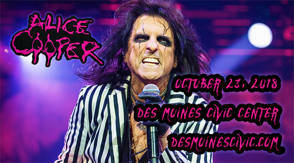 Alice Cooper at Des Monies Civic Center